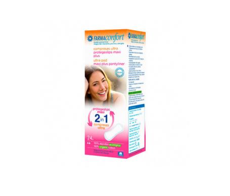 Farmaconfort 2 en 1 protegeslips/compresas 24uds