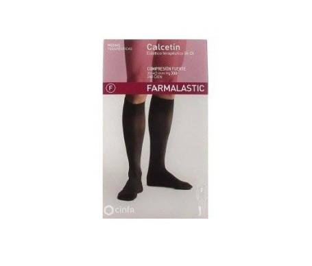 Farmalastic calcetín antibacteriano comp. normal T-grande negro 1ud