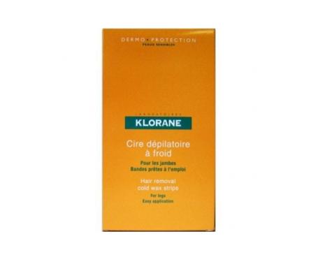 Klorane cera depilatoria en frío piernas 6uds