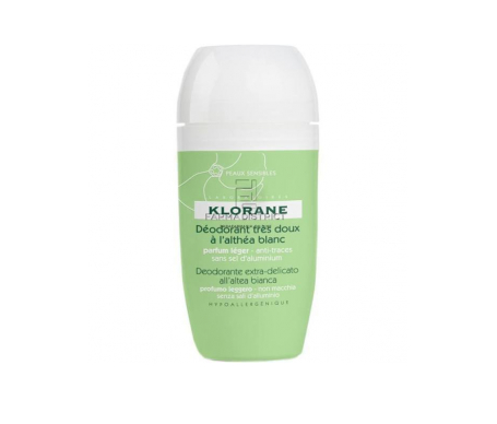 Klorane Altea Blanca desodorante roll-on muy suave 40ml