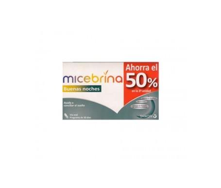 Micebrina Buenas Noches melatonina 1mg 30cáps