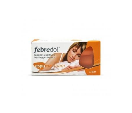 Febredol® tapones de espuma para los oídos 2uds