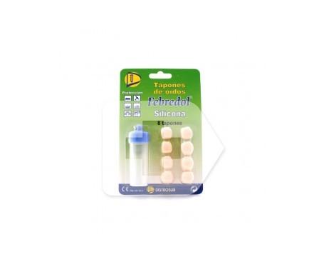 Febredol® tapones de silicona para los oídos 8uds