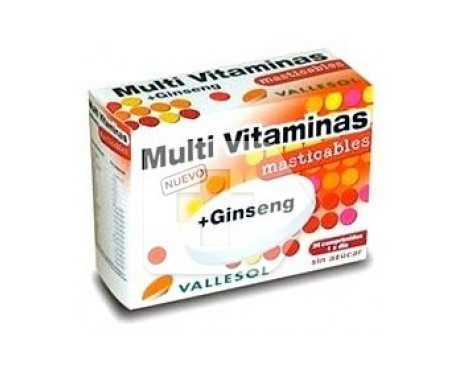Vallesol Multivitamines + Ginseng 24 comprimés