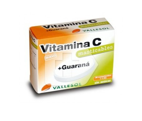 Vallesol vitamina C + guaraná 24comp