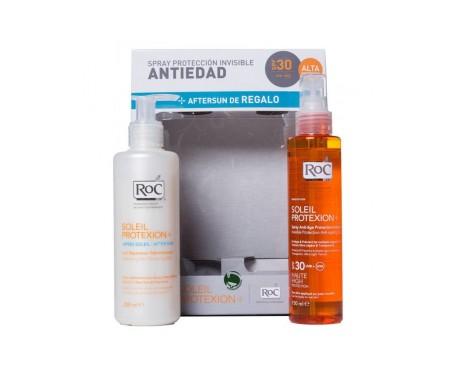 RoC® Soleil loción hidratante 24h spray SPF30+ 200ml + aftersun leche 200ml