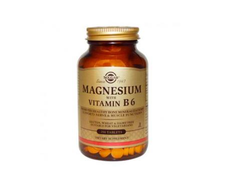 Solgar Magnesium Vitamina B6 250comp