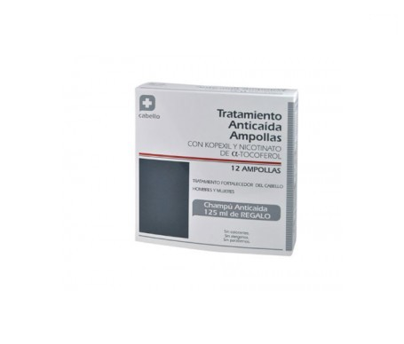Parabotica tratamiento anticaída 12 ampollas + champú regalo