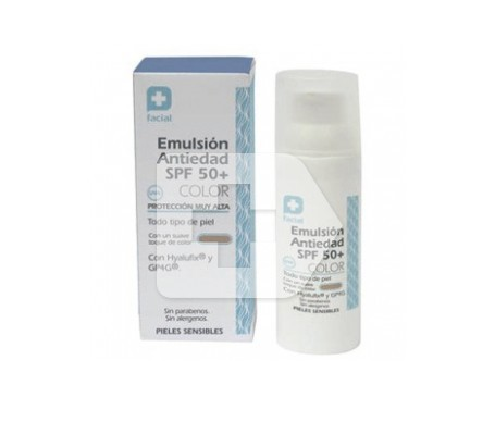 Emulsión antiedad SPF50+ color 50ml