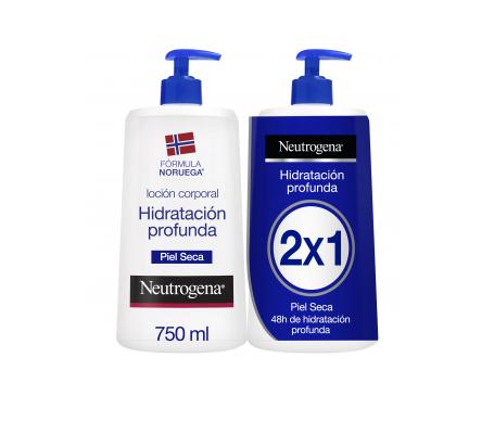 Neutrogena® Loción Corporal Hidratación Profunda Piel Seca 2x750ml