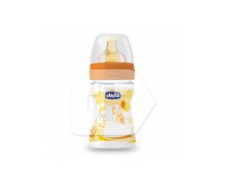 Chicco® biberón plástico boca ancha flujo papilla 330ml