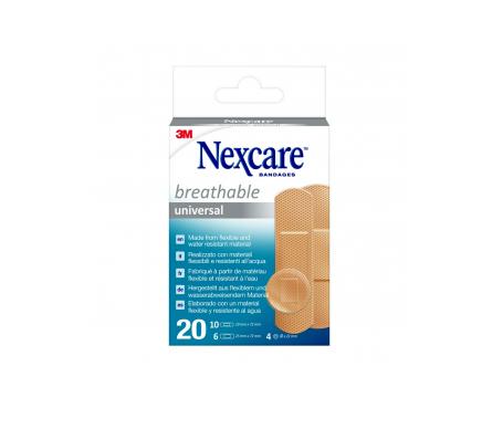 Nexcare® Universal tiras adhesivas surtido 20uds