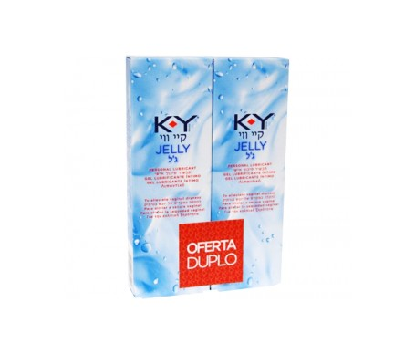 KY Jelly gel lubricante hidrosoluble 75ml+75ml