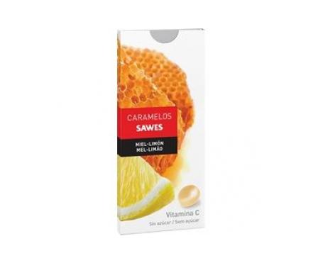 Sawes caramelos sin azúcar miel con limón 22g
