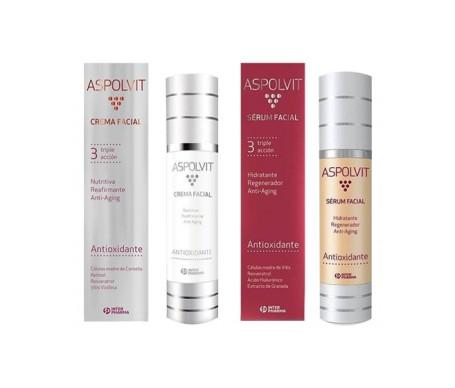 Aspolvit Pack Tratamiento Antioxidante sérum facial 50ml + crema facial 50ml