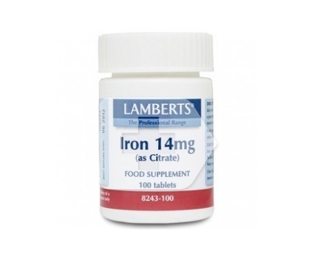 Lamberts Iron 14mg 100 tabletas