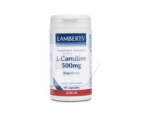Lamberts L-carnitina 500mg 60cáps