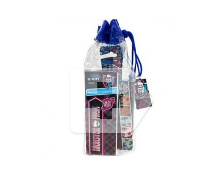Kin neceser viaje Monster High cepillo dental 1ud + pasta dentífrica 25ml