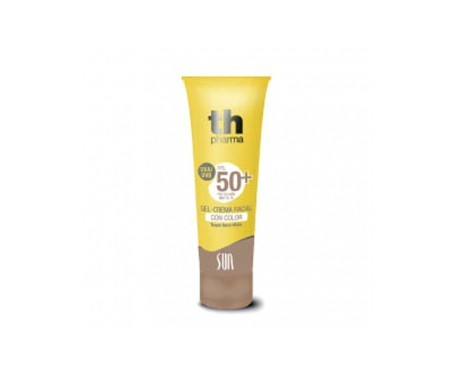 TH Sun gel crema facial antiedad color arena SPF50+ 50ml