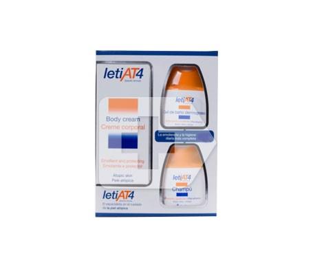 Leti AT4 crema corporal 200ml + gel baño 100ml + champú 100ml