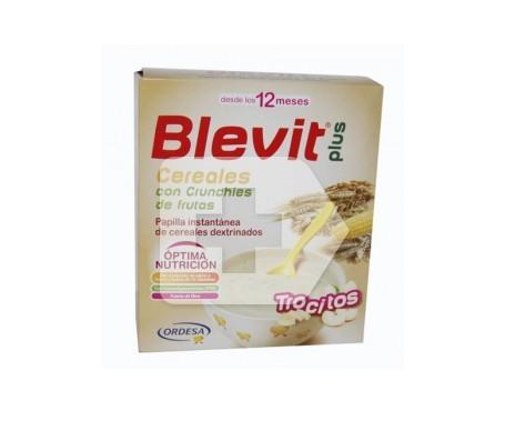 Blevit Plus cereales con crunchies de frutas 600g