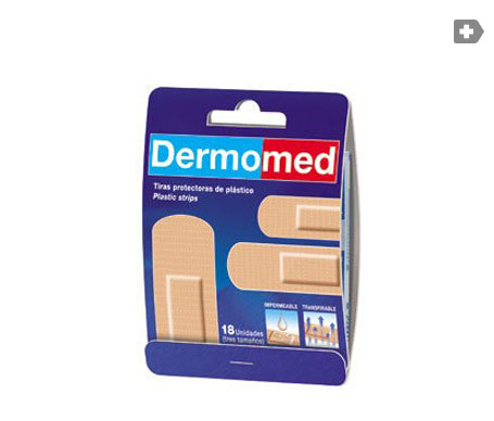 Dermomed apósito adhesivo tira plast PVC 1cmx6cm 10uds