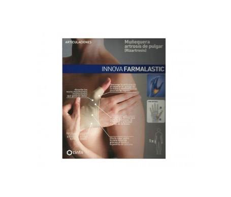 Farmalastic Innova muñequera artrosis de pulgar (mano izquierda T-medio)