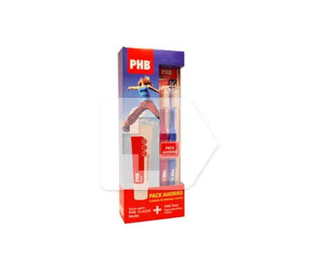 PHB cepillo medio adulto 1ud + total pasta dental 100ml