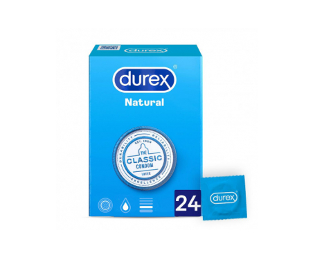 Durex® Natural Plus Easy-On preservativos 24uds
