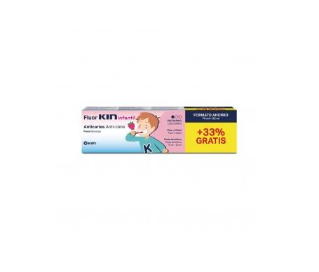 Fluor-Kin pasta infantil 75ml+25ml regalo + 1 cepillo