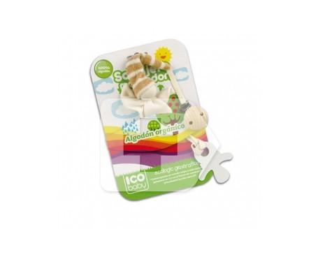 ICO Baby sonajero mordedor de algodón orgánico