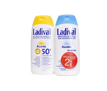 Ladival® Pack Pieles sensibles o alérgicas SPF50+  gel-crema 200ml + After sun 200ml