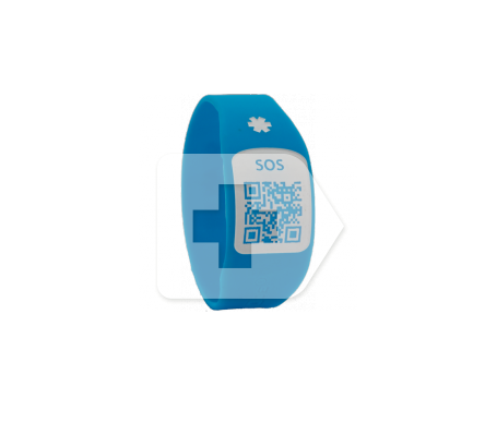 Silincode pulsera SOS QR color azul T-XS 1ud