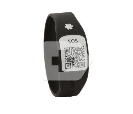Silincode pulsera SOS QR color negro T-L 1ud