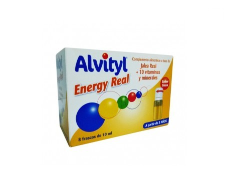 Alvityl Energy Real Fresa 10ml 8 frascos