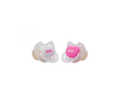 Interapothek chupete látex +6 color rosa 2uds