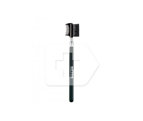 Hair brush with dense and firm nylon stylized eyebrows