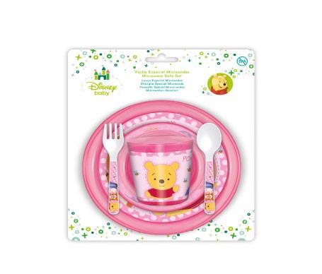 Disney Baby vajilla para microondas Winnie Pooh rosa