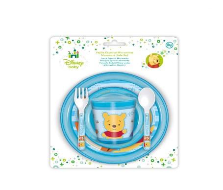Disney Baby vajilla para microondas Winnie Pooh azul