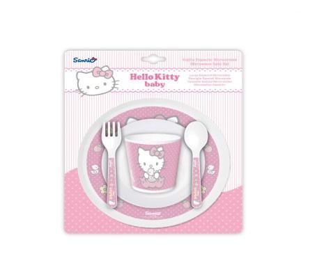 Disney Baby vajilla para microondas Hello Kitty