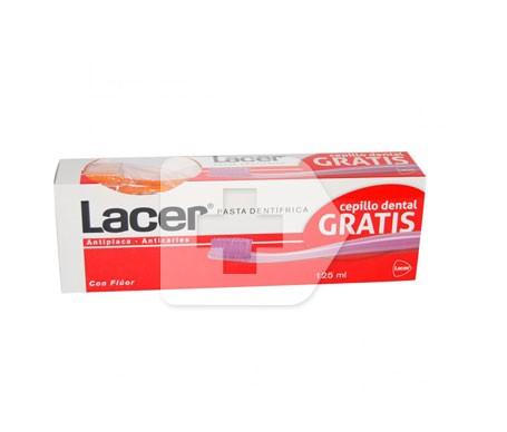 Lacer pasta con flúor 125ml + 1 cepillo GRATIS