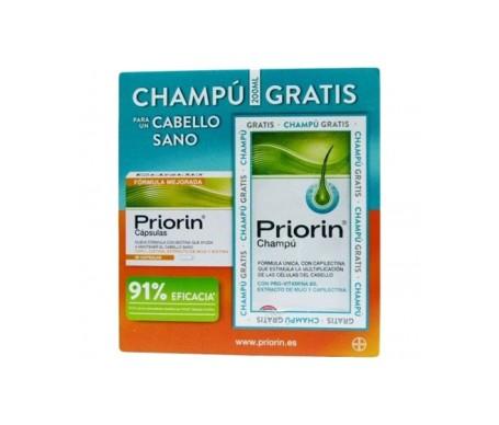 Priorin 60càps + shampooing anti-chute 200ml cadeau gratuit
