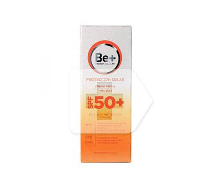 Be+ fotoprotector crema facial piel seca SPF50+ 50ml