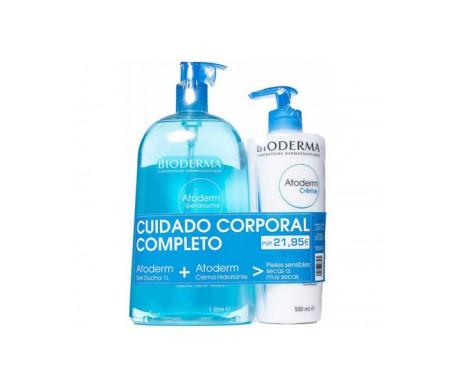 Bioderma Atoderm crema 500ml + Atoderm gel de ducha 1l