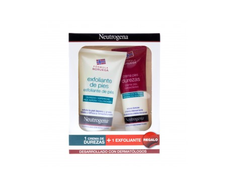 Neutrogena®  crema pies durezas 50ml + exfoliante pies 75ml