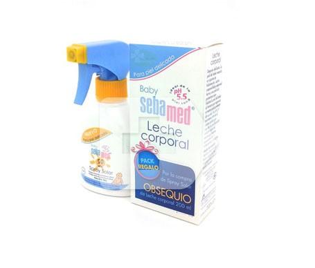 Sebamed Baby Spray Solar SPF50 200ml + Leche Corporal 200ml