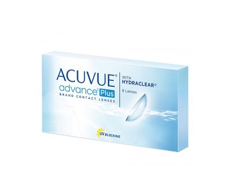 Acuvue®  Advance® Plus curva 8.7 dioptrías -0.75 6uds