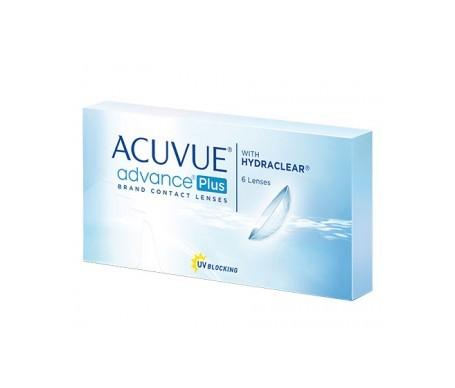 Acuvue®  Advance® Plus curva 8.7 dioptrías +1.50 6uds
