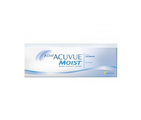 1-Day Acuvue® Moist® curva 9.0 dioptrías -0.50 30uds
