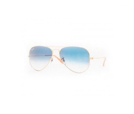 Ray-Ban Aviator Gradient Azul Claro Degradada 55mm lente